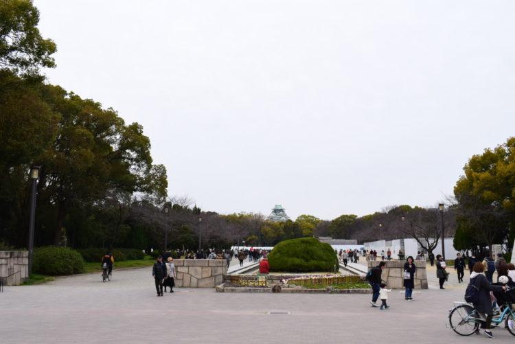 大阪城遊具広場入口付近の写真